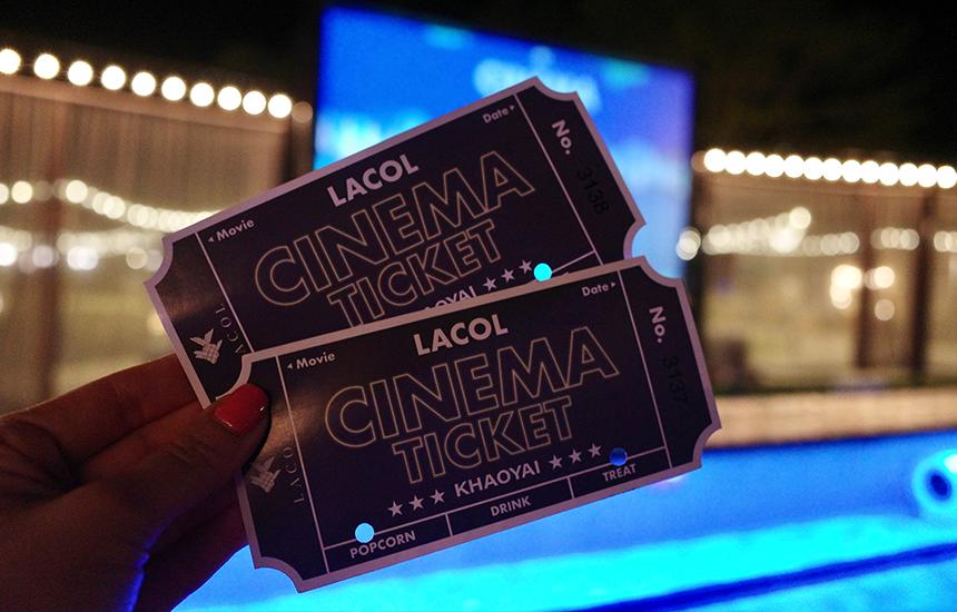 ค่าตั๋ว Lacol Cinema เขาใหญ่ คนละ 400 บาท