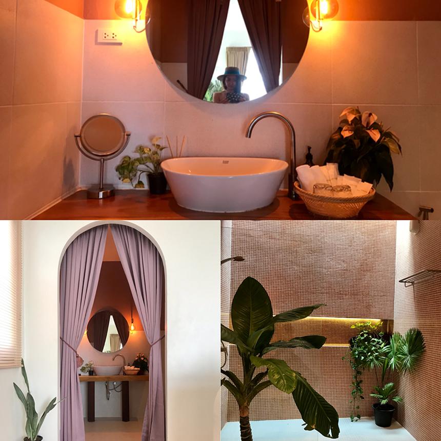 มุมห้องน้ำน่ารักๆ ที่พักใส่ใจทุกรายละเอียด