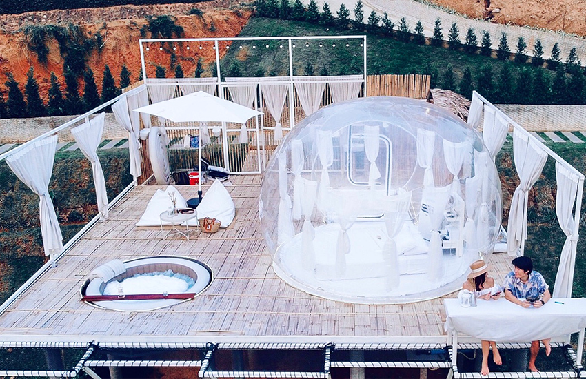 The Three Bubble Houses